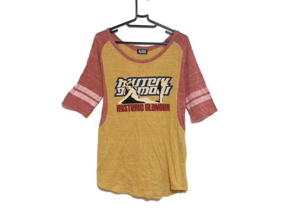 ヒステリックグラマー 半袖Tシャツ サイズF レディース イエロー×ピンク×マルチ