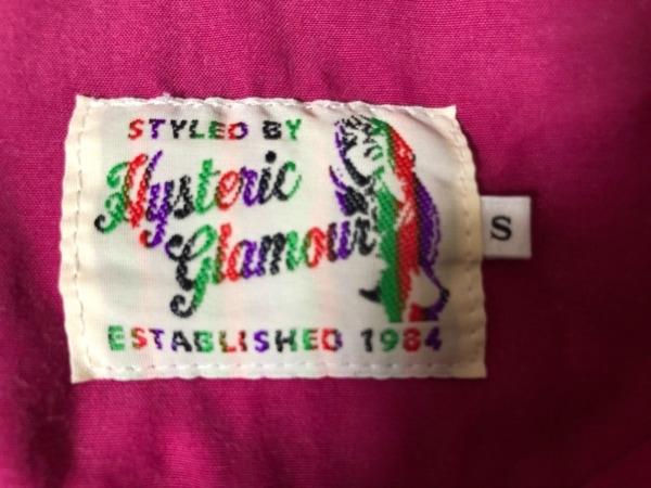 ヒステリックグラマー 半袖シャツブラウス サイズS レディース ピンク×白×ネイビー