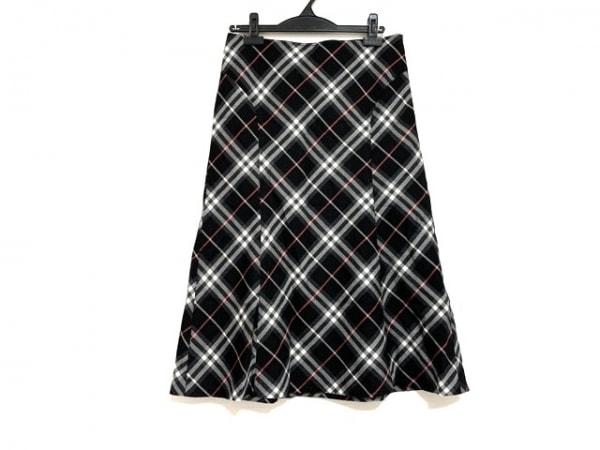 バーバリーロンドン ロングスカート サイズ42 XL レディース美品  チェック柄