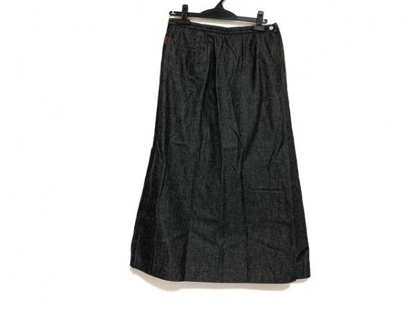 バーバリーロンドン 巻きスカート サイズ13ABR44 レディース美品  ダークグレー