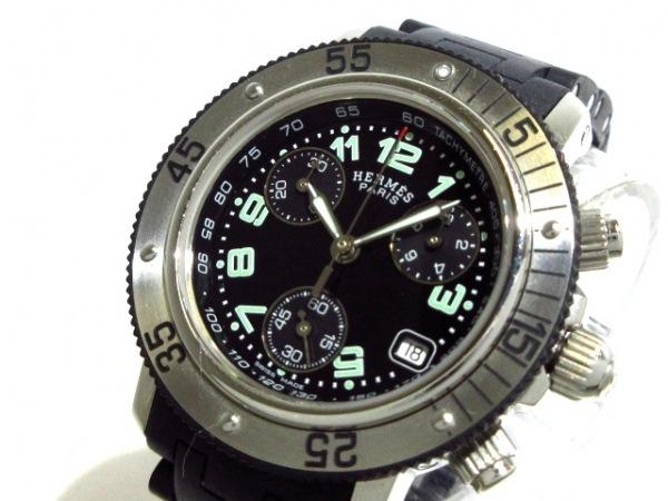 HERMES(エルメス) 腕時計 クリッパーダイバークロノ CL2.315 ボーイズ 黒