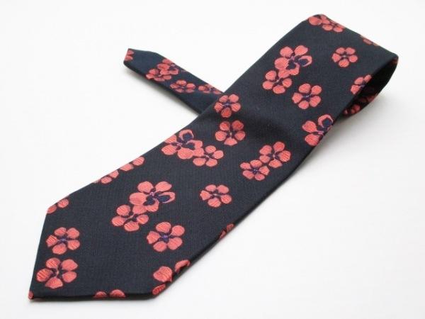 PaulSmith(ポールスミス) ネクタイ メンズ美品  黒×ピンク 花柄
