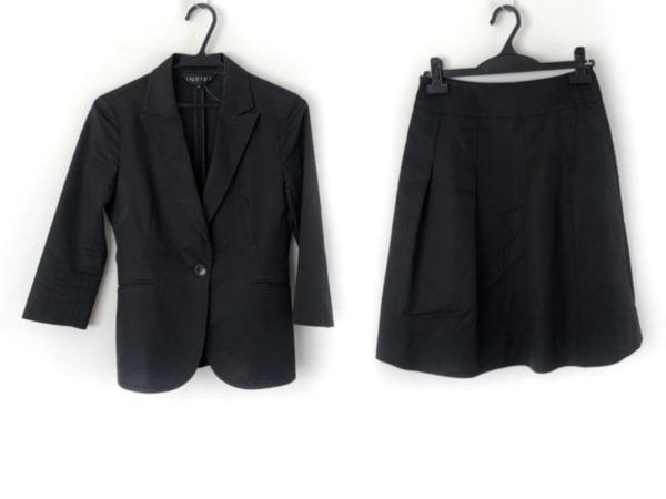 INDIVI(インディビ) スカートスーツ サイズ38 M レディース美品  黒