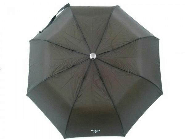 PRADA(プラダ) 折りたたみ傘美品  ダークブラウン ナイロン