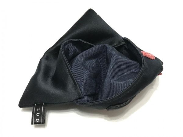 ラドロー 小物入れ 黒×レッド×オレンジ ポケットティッシュケース/リップ/口紅
