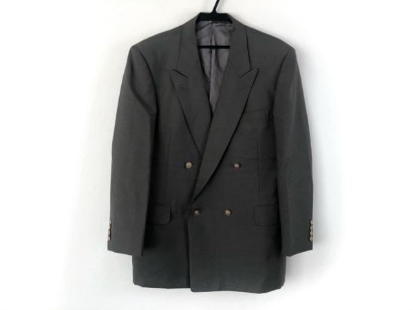 Burberry's(バーバリーズ) ジャケット メンズ美品  グレー 肩パッド/ネーム刺繍
