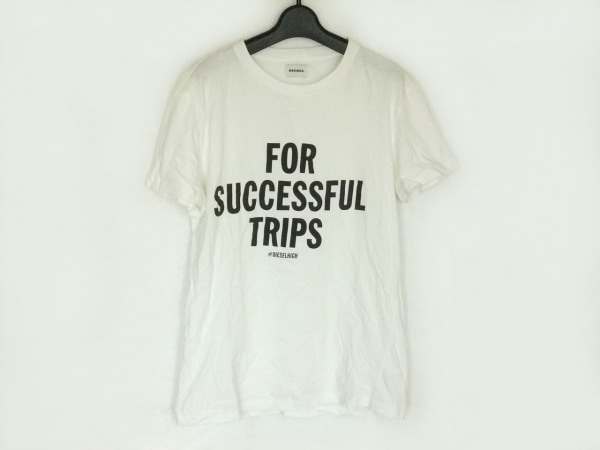 DIESEL(ディーゼル) 半袖Tシャツ サイズS メンズ アイボリー