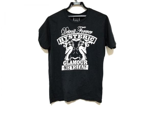 ヒステリックグラマー 半袖Tシャツ サイズS レディース美品  黒×アイボリー