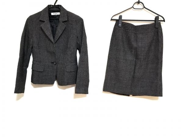 ナチュラルビューティー ベーシック スカートスーツ サイズS レディース美品  黒×白