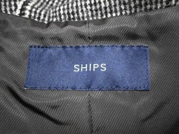 SHIPS(シップス) コート サイズ38 M レディース 黒×グレー ジップアップ/冬物