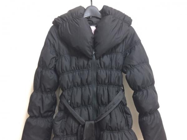 HoneyBunch(ハニーバンチ) ダウンコート サイズ0 XS レディース 黒 冬物/リボン