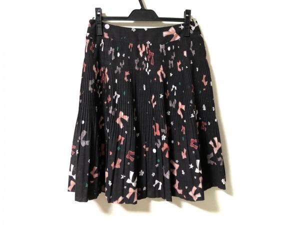 ソニアリキエル スカート サイズ42 L レディース美品  リボン柄/プリーツ