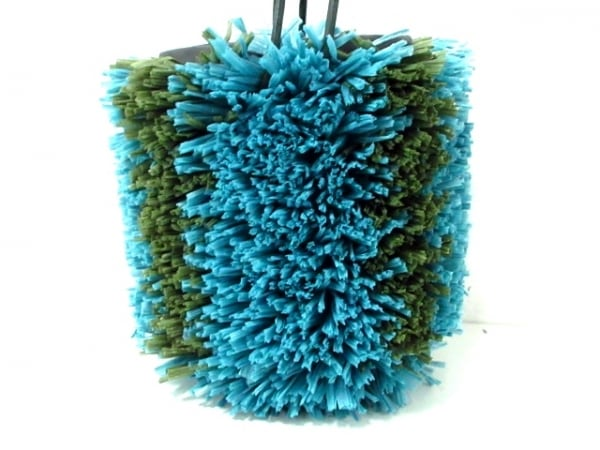 LUDLOW(ラドロー) トートバッグ美品  ライトブルー×グリーン×ダークグレー