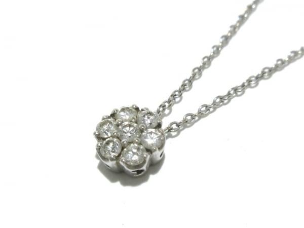 PonteVecchio(ポンテヴェキオ) ネックレス K18WG×ダイヤモンド 0.26カラット