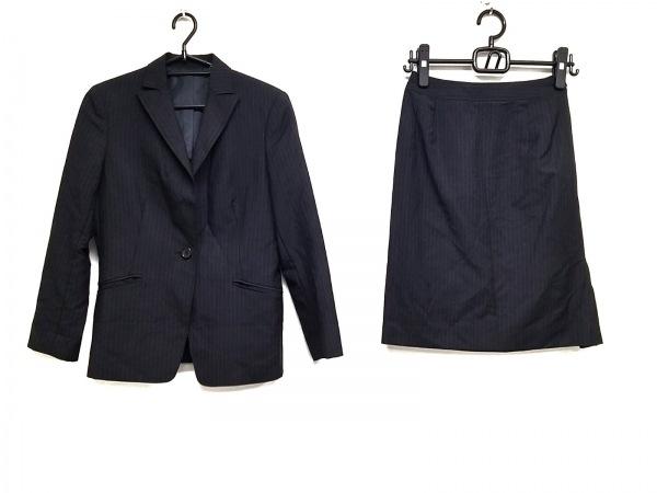 ニューヨーカー スカートスーツ サイズ7AR S レディース美品  黒×ネイビー