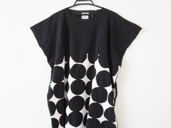 SOU・SOU(ソウソウ) ワンピース レディース 黒×白 貫頭衣