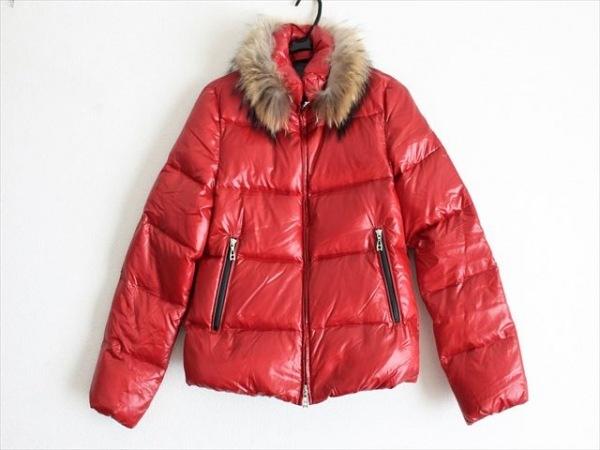 ARTISAN(アルチザン) ダウンジャケット サイズ11 M レディース レッド ファー/冬物