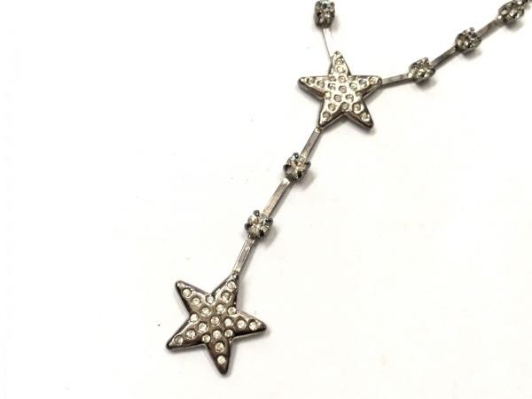 AGATHA(アガタ) ネックレス美品  金属素材×ラインストーン シルバー×クリア スター