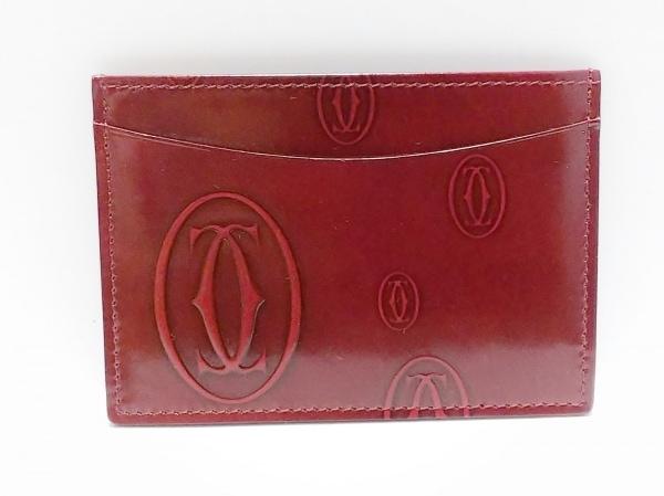 Cartier(カルティエ) カードケース ハッピーバースデー ボルドー エナメル(レザー)