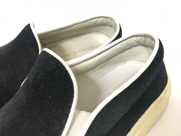 エーエムビー スニーカー 37 レディース 黒 スエード
