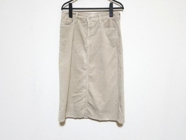 mother(マザー) スカート サイズ26 S レディース美品  ベージュ コーデュロイ