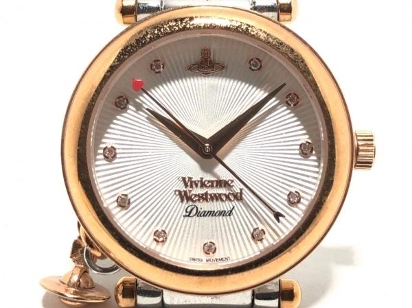ヴィヴィアン 腕時計 VV006SLRS レディース ラインストーン アイボリー