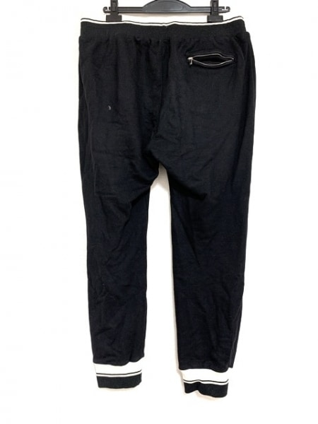 ドルチェアンドガッバーナ パンツ サイズ54 L メンズ 黒×アイボリー スウェット