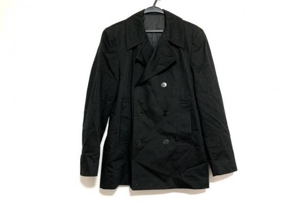 agnes b(アニエスベー) コート サイズ46 L メンズ美品  黒 肩パッド/homme/春・秋物