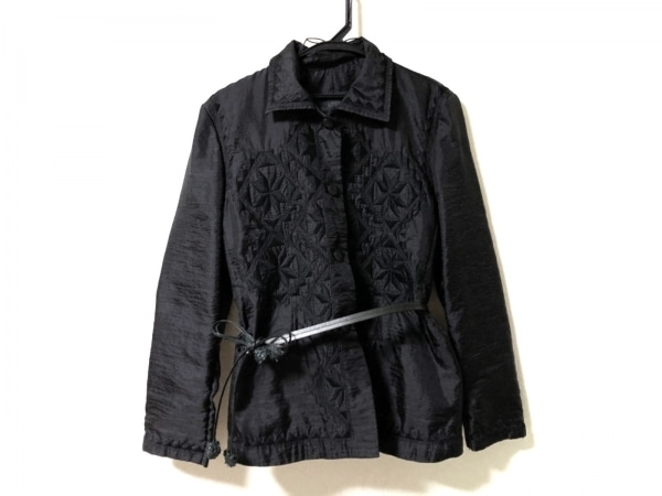 ERMANNO SCERVINO(エルマノシェルビーノ) ジャケット サイズ42 L レディース 黒