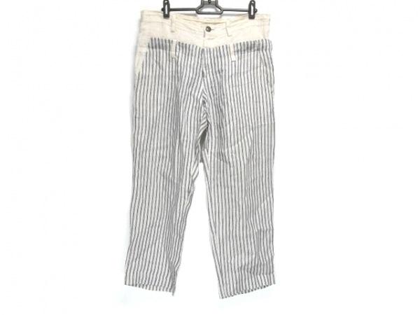Y's(ワイズ) パンツ サイズ3 L レディース アイボリー×ダークネイビー ストライプ