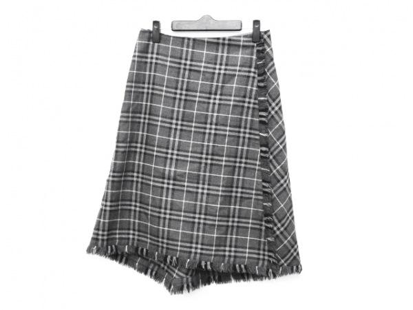 バーバリーロンドン 巻きスカート サイズ40 L レディース - - ひざ丈/チェック柄