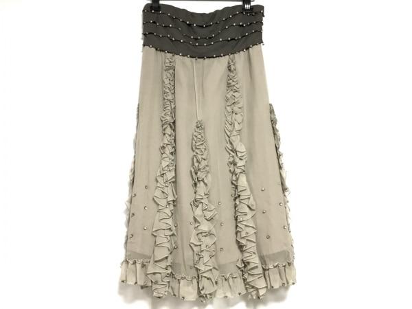 ダイアグラム ドレス サイズ38 M レディース美品  ダークブラウン×グレージュ