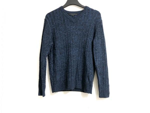 DESIGNWORKS(デザインワークス) 長袖セーター サイズM メンズ ブルー×黒