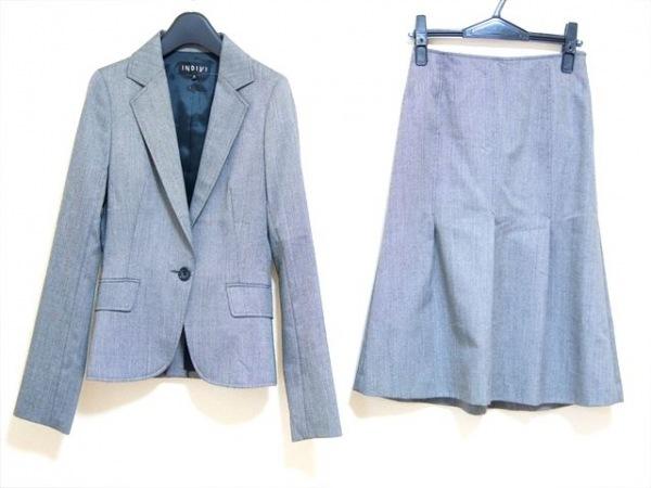 INDIVI(インディビ) スカートスーツ サイズ36 S レディース美品  グレー
