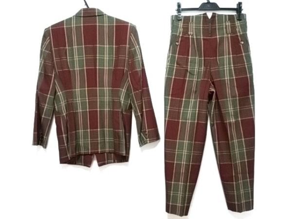 NICOLE(ニコル) シングルスーツ メンズ ボルドー×ダークグリーン×マルチ