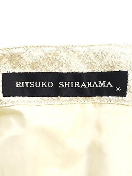 リツコシラハマ レディースパンツスーツ サイズ9 M レディース アイボリー×シルバー