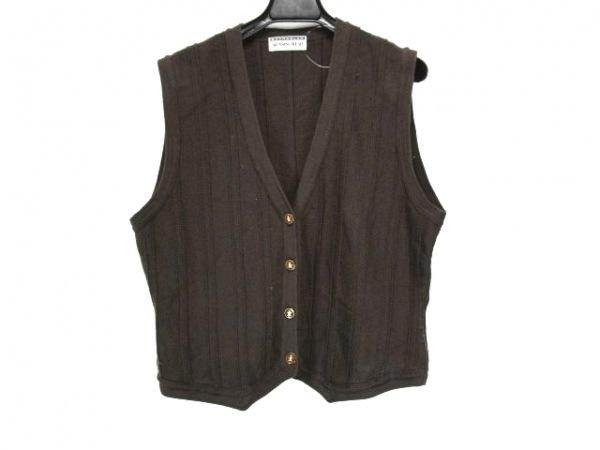 Munsingwear(マンシングウェア) ベスト サイズL メンズ ダークブラウン ニット