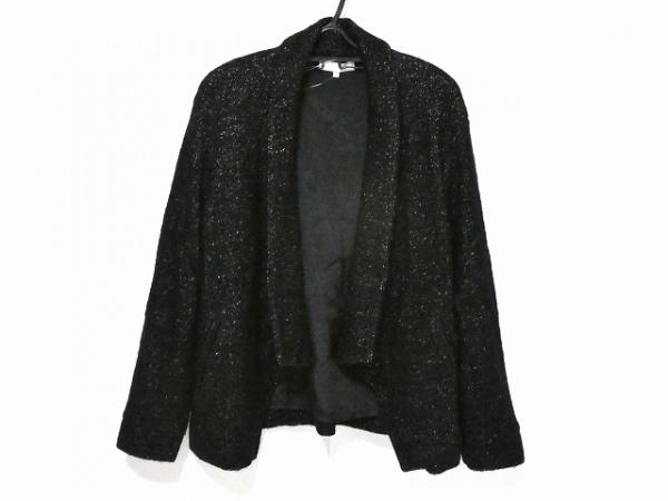 自由区/jiyuku(ジユウク) コート サイズ38 M レディース 黒 冬物/ラメ/ショート丈