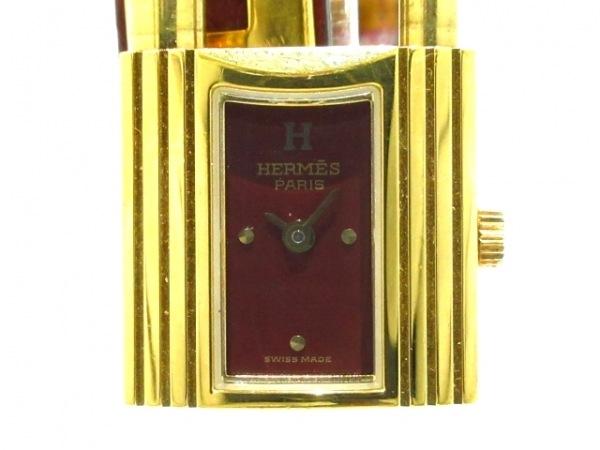 HERMES(エルメス) 腕時計 ケリーウォッチ レディース 〇X ボルドー