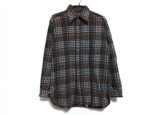 ペンドルトン 長袖シャツ サイズM メンズ ダークブラウン×アイボリー×マルチ