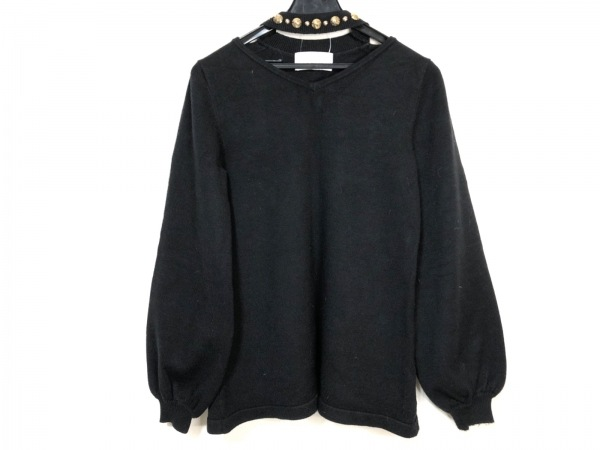 Rady(レディ) 長袖セーター サイズF レディース 黒×ゴールド ビジュー