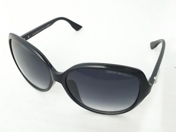 エンポリオアルマーニ サングラス EA9710/K/S 黒×シルバー プラスチック×金属素材