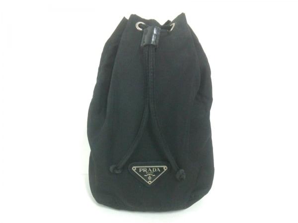 PRADA(プラダ) ポーチ - 黒 巾着 ナイロン