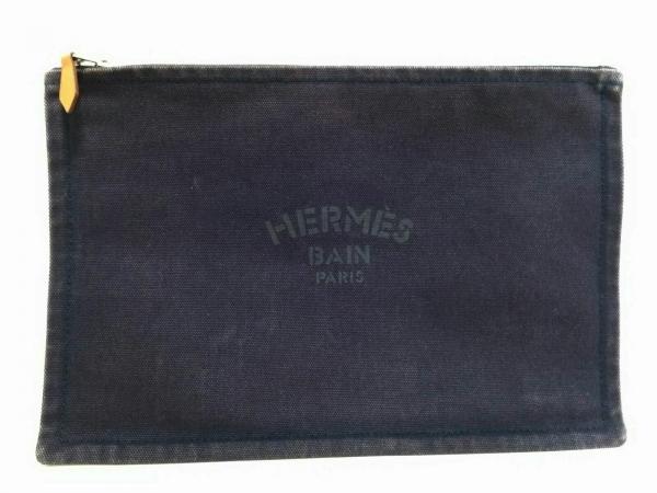 HERMES(エルメス) ポーチ ヨッティングGM パープル キャンバス