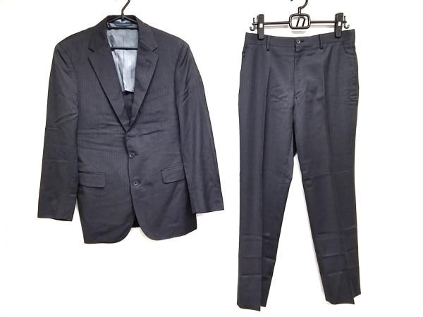 ポロラルフローレン シングルスーツ サイズ38 M メンズ ダークグレー×ライトグレー
