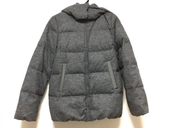 ナノユニバース ダウンジャケット サイズ38 M レディース グレー Nishikawa Down/冬物