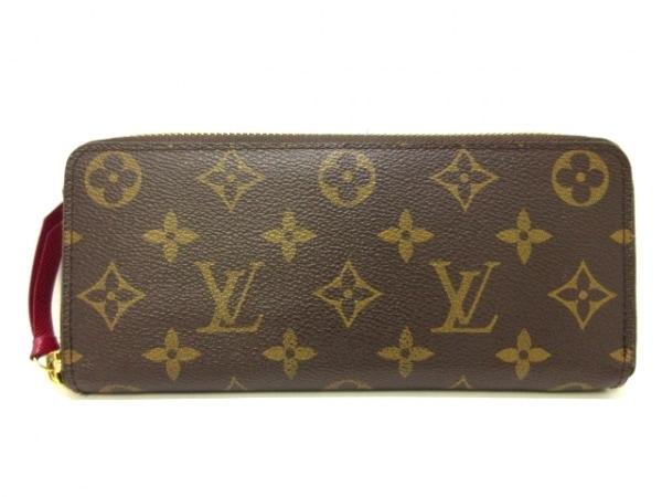 ルイヴィトン 長財布 モノグラム美品  ポルトフォイユクレマンス M60742 フューシャ