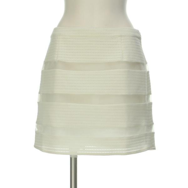 MORGAN(モルガン) スカート レディース新品同様  ホワイト系 台形スカート