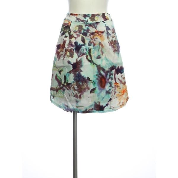 アンソロポロジー スカート レディース新品同様  ブルー系 台形スカート