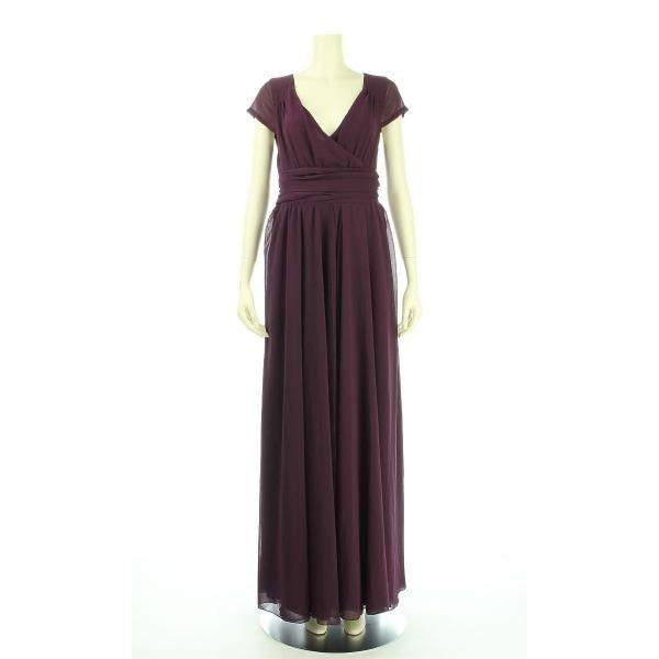 オッサエプ ドレス サイズ6(M/9号) レディース新品同様  パープル系 ロングドレス